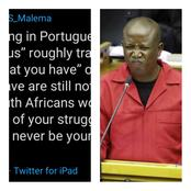 """You Are On Your Own"" — Mzansi Tell a Man Who Sent Malema Dangerous Birthday Wishes"