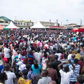 See The Crowd That Welcomed President Nana Akufo-Addo