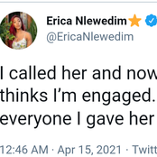 I called her and now everyone thinks I'm engaged