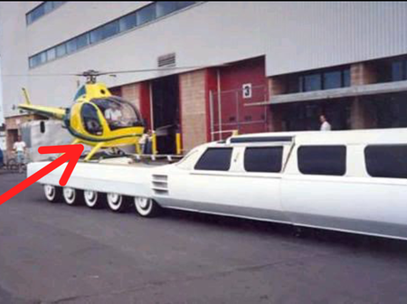 See The World's Longest Car With A Swimming pool And A Helicopter Landing Pad [Photos]