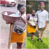 Yesterday, she was hawking sachet water with one leg, but today see how her life has been transformed