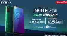 Harga Pre-order Infinix Note 7 Lite. (Shopee)