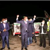 [PHOTOS] Hilarious Reactions Of CS Mutahi Kagwe As He Was Receiving The Covid-19 Vaccine At JKIA