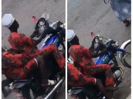 (Video): Man spotted using starring for motorcycle