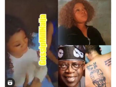 Man Finally Takes Action After His Wife Tattooed Tinubu On Her Body, Checkout What He Did To Her