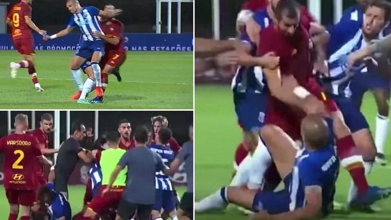 Pepe sparks chaos between Roma and Porto with brutal challenge on Henrikh Mkhitaryan