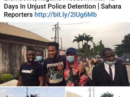 (See photos), Eromosele #EndSARS protester, regains freedom after 12 days in Police Detention