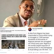 Read What FFK Just Said About The Smuggling Of Nigerian Penises Into China And Ritual Killings