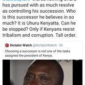 Uhuru's Succesor He believes In So Much According To David Ndii
