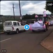 Watch: Bride using a TBL to go to her wedding has caused a stir on social media.