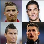 See Cristiano Ronaldo new hairstyle and a lot of his previous Ones