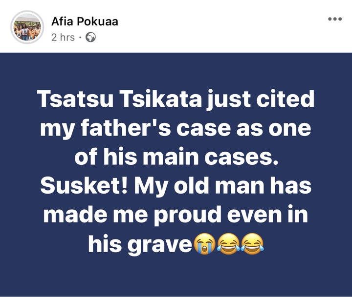 99a2cf0fe7144a6bb63e02b96304128e?quality=uhq&resize=720 - He Has Made Me Proud In His Grave, Tsatsu Tsikata Just Cited My Late Father's Case - Afia Pokua Reveals