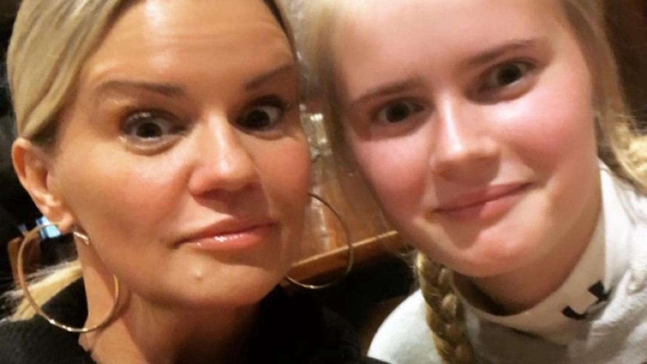 Kerry Katona reveals daughters have met Brian McFadden's newborn but hints he's banned her from talking about baby