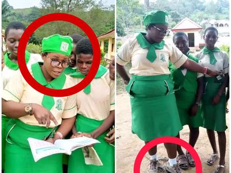Is This Proper? Checkout How This Ekiti Teacher Dresses To The Classroom {Photos}.