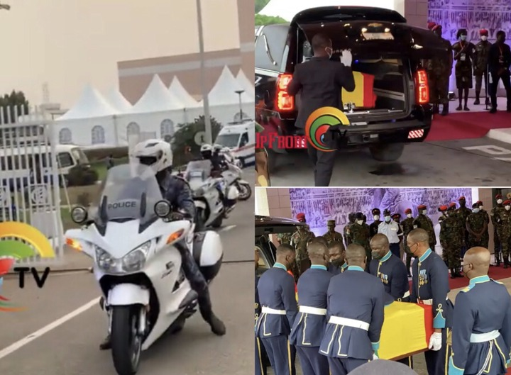99c8f9f044e64e68a44b7d342b376a81?quality=uhq&resize=720 - Sad Moment: How Body Of The Late Papa J Got Departed In A Long Convoy From The AICC, Awaiting Burial