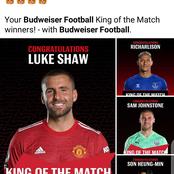 Luke Shaw & Son Among Winners Of Premier League King Of The Match Award