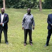 Gideon Moi And Muhoho Kenyatta Meet ODM Leader Raila Odinga At His Karen Home (photos)