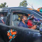 Check out Photos of Dp Ruto's wife Gifting Her Primary School Teacher a Car