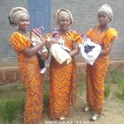 Triplets Who Married The Same Day and Gave birth to three Baby Boys within the same period