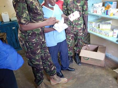 KDF Donate Medicine and health facilities for the People of Kizingitini, Pate Island
