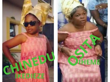 Checkout Hilarious Photos of Chinedu Ikedieze And Osita Iheme Dressed Up As Girls In Movies