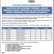 Here is Good News to Teachers from Teacher Service Commission