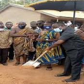Wassa Amenfi East MP Cuts sod For 3-Unit Classroom Block