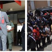Reactions As EFCC Boss Addresses Staff In An Open Space