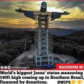 The World's Biggest Jesus Christ Statue, Measuring 140ft Coming Up In Southern Brazil