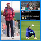 See Asisat Oshoala's Reaction After Man Utd Drew With Crystal Palace Yesterday