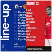 See Confirmed Lineup For Chelsea Versus Manchester United Game At Stamford Bridge