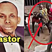 VIDEO: Moment Pastor Was Fighting Publicly With His Neighbour and Wife Over Disagreement