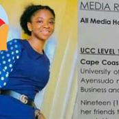 Rest In Peace; 19yrs Old UCC Student Confirmed Death After Fatal Accident, Check The Cause