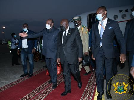 More Photos: President Akufo-Addo Attends The Swearing-in Ceremony Of President Alpha Condé