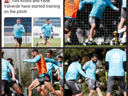 Good News For Real Madrid as Both of their Injured Star Players return to training