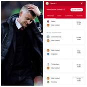 United's Next 8 PL Games Show Ole Solksjaer Could Drop Out Of CL Spot In Coming Weeks