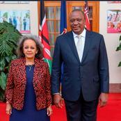 President of Powerful African Country Meets Uhuru Kenyatta After Landing in Kenya