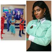"""I Gave Birth To Them""-- Mercy Johnson, Says As She Playfully Dances Behind Her Children."