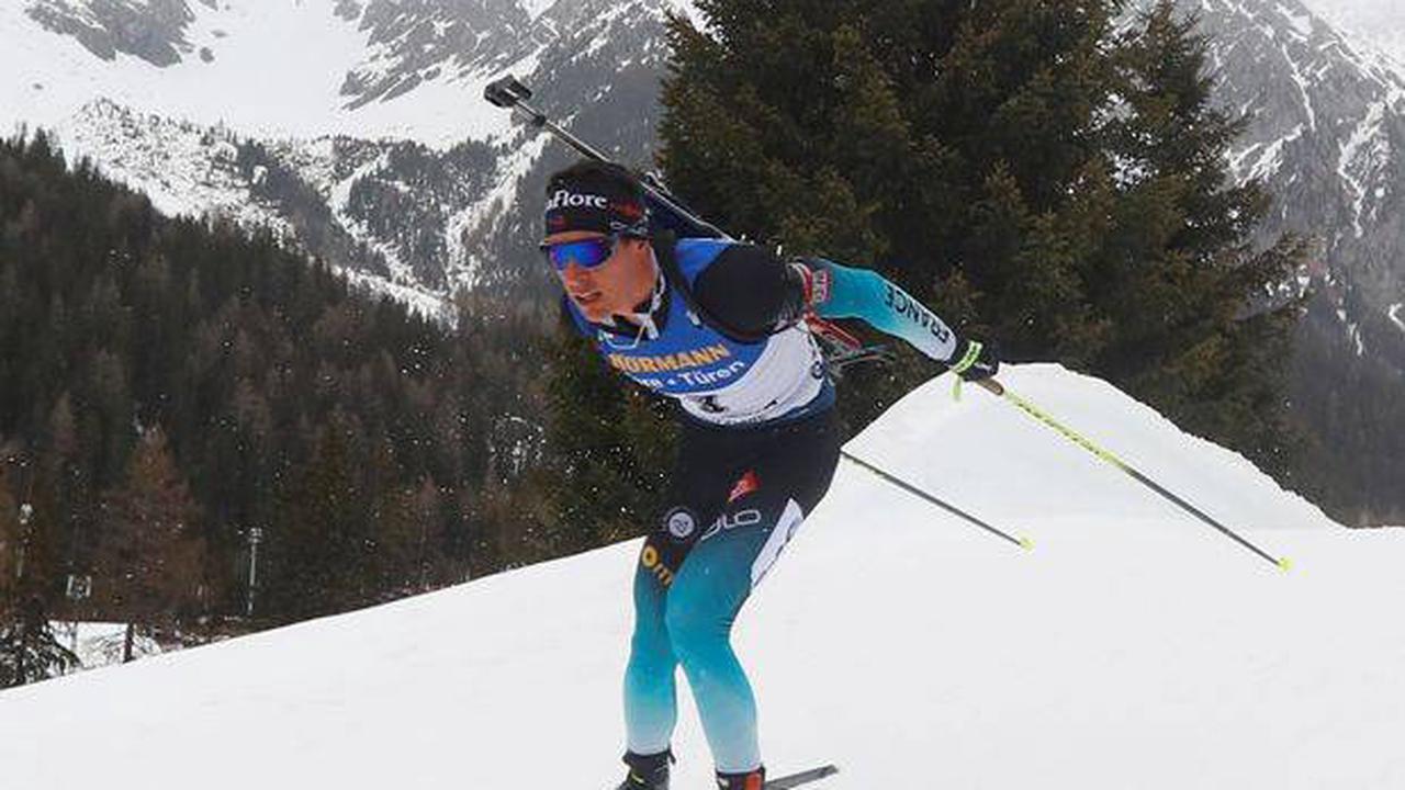 Quentin Fillon-Maillet sur le podium de l'individuel d'Antholz