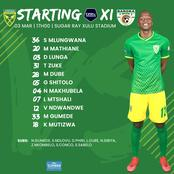 Confirmed Arrows starting XI against Baroka FC