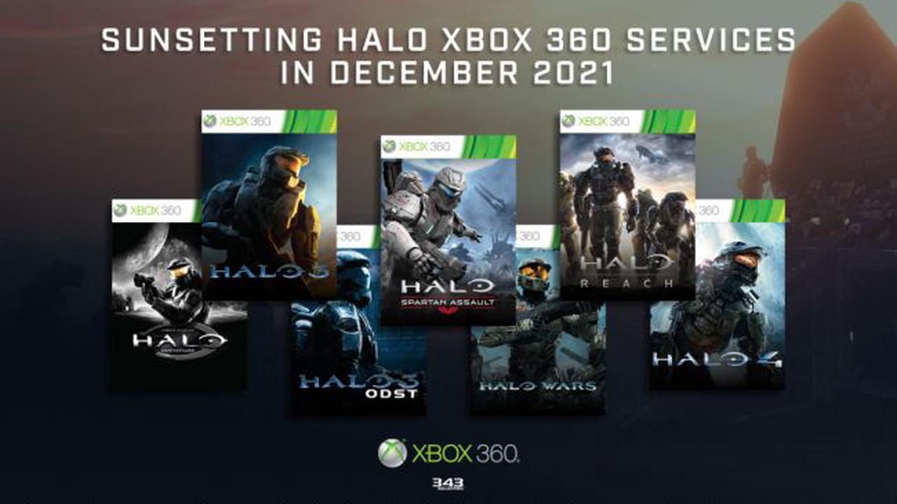 Les services Xbox 360 d'Halo s'éteindront fin 2021