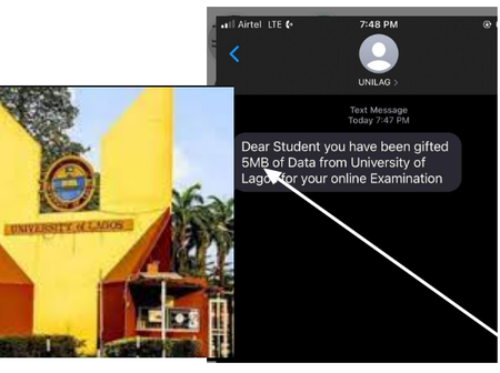 Check Out The Message Reportedly Recived by Unilag Students That's Causing Reactions