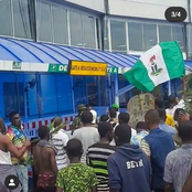 See What Protesters Did at Lagos Airport Which Got People Talking Online [Photos]