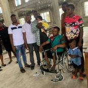 Reactions As Crippled Man Who Danced During His Baby's Dedication Gets A Wheelchair From A Pastor