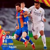 Real Madrid wins against Messi side
