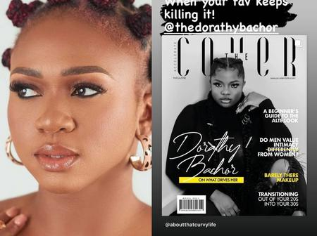 Singer Waje confirms Bbn's Dorathy as her favourite as she covers the front page of a magazine.