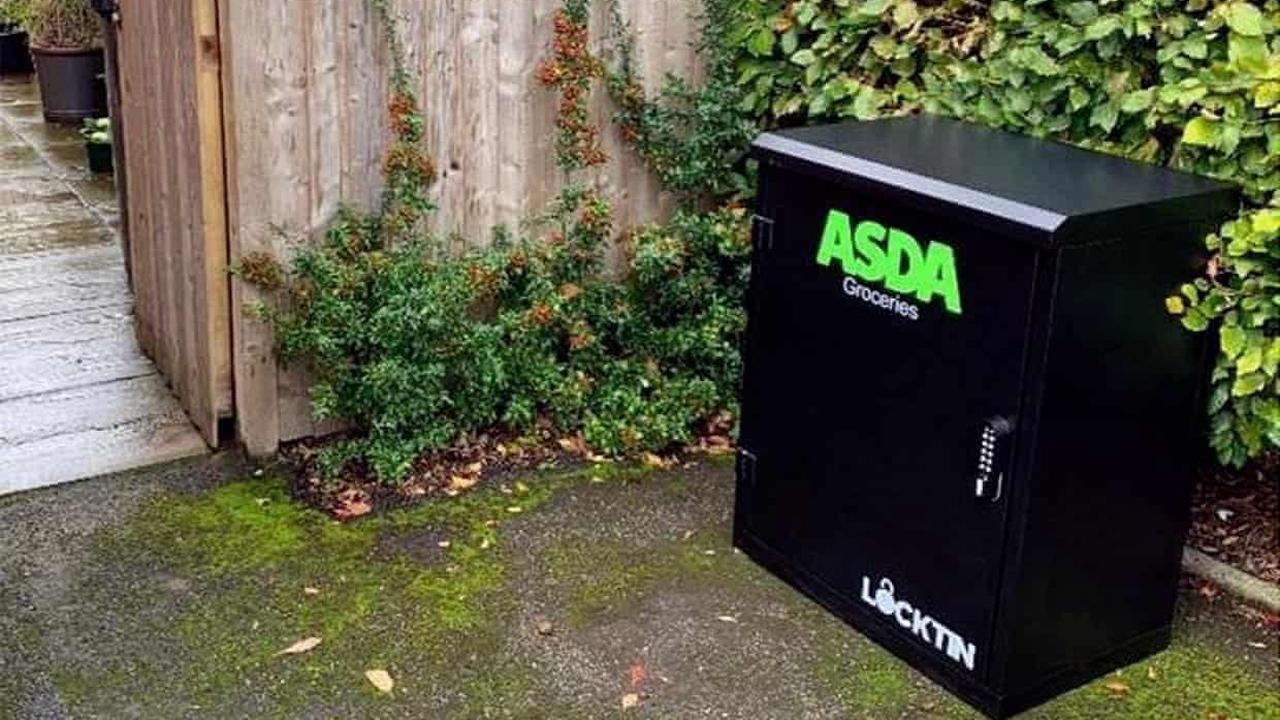 Asda tries out delivery system for when people are not at home