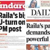 Headlines On Today's Newspapers