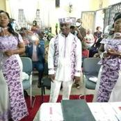 Enjoyment or Punishment? — Man Excited As He Weds Two Ladies The Same Time (Photos)