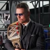 See Pictures Of The Miz With His New WWE World Heavyweight Title